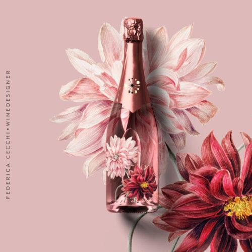 champagne+fiori