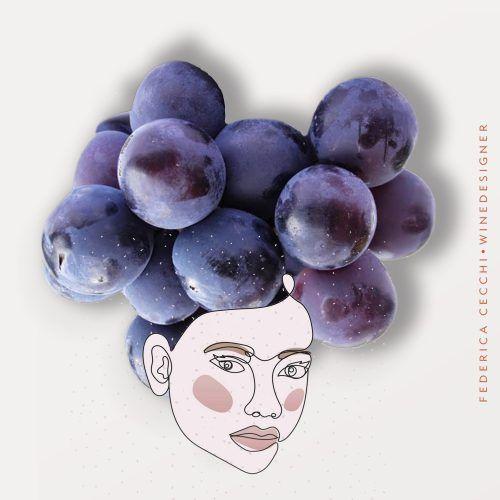 donna con vino